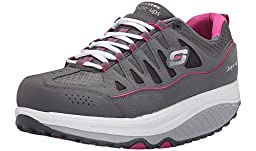Skechers Women\'s Shape Ups 2.0 Comfort Stride Fashion Sneaker (Charcoal/Pink, 6.5)