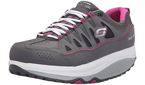 Skechers USA Shape-ups 2.0 Comfort Stride Women`s Sneaker 8.5 B(M) US Charcoal-Pink