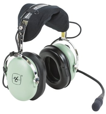 David Clark Headset For Helicopter/M-7A Amplified Electret Mic/Coil Cord/U-174