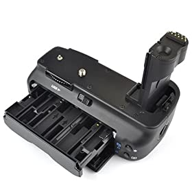 DynaSun E2N Impugnatura Battery Grip Professionale per Canon EOS 50D 40D 30D 20D BG-E2N BG-E2 + Slot