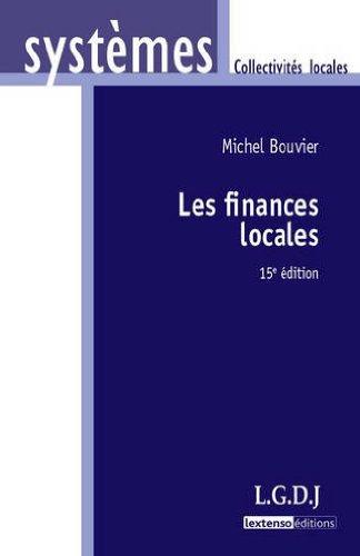 Livre Télécharger Les Finances Locales De Michel Bouvier Pdf