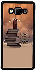 PrintVisa Case Covers for Samsung Galaxy A5 (D8014 Quotes Dreams)
