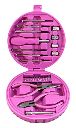 Ladies-Compact-Tool-Kit-in-Pink-24-Pieces-in-Pink-Case