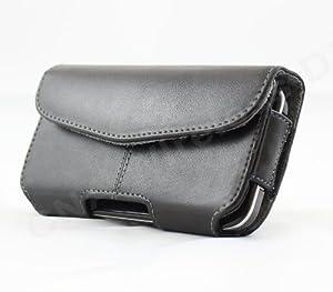 Premium Business Black Leather Horizontal Carrying Pouch Case for Motorola ATRIX 2