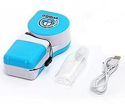 Dragonpad® Portable Small Fan & Mini-air Conditioner,runs on Batteries or USB