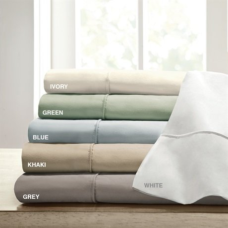 Siena Home Fashions 800 Thread Count Sheet Set (Ivory, Queen) front-630384