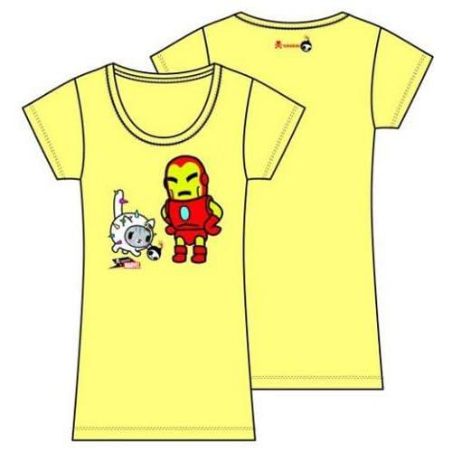 Tokidoki x Marvel Iron Man Playful Yellow T Shirt (WOMEN X LARGE)