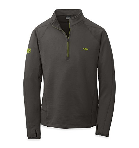 outdoor-research-mens-radiant-light-zip-top-charcoal-lemongrass-large