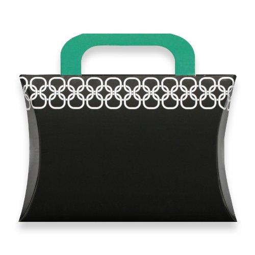 Berwick Chainlink Pillow Box Gift Card Holder, Black, 7 3/8