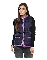 Yepme Women's Blue Polyester Jackets - YPMJACKT5183_L