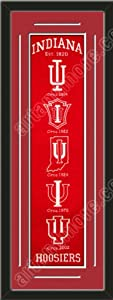 Heritage Banner Of Indiana Hoosiers With Team Color Double Matting-Framed Awesome... by Art and More, Davenport, IA