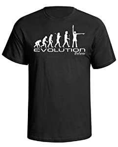 Evolution of a Referee mens football rugby funny gift present t shirt Black shirt white print