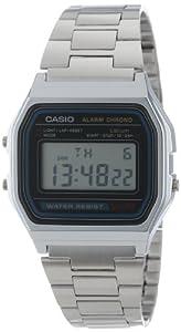 Casio A158WA1Q - Reloj Unisex metálico Negro / Plata de Casio