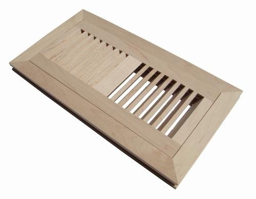 WELLAND® 3 Inch X 10 Inch Maple Hardwood Vent Floor Register Flush Mount Unfinished (Vent Cover 3 X 10 compare prices)