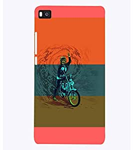 PrintVisa Sports Extreme Sports Bike 3D Hard Polycarbonate Designer Back Case Cover for Huawei P8