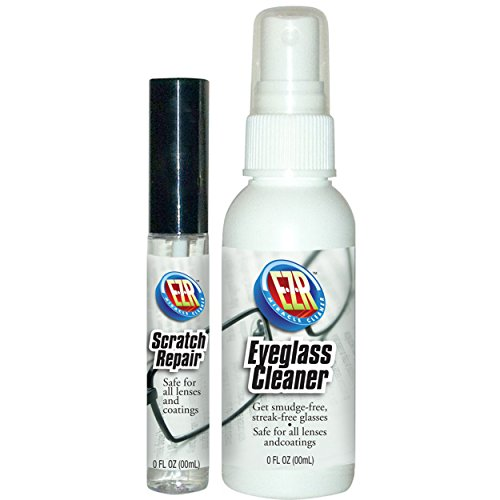 EZR Eyeglass Cleaner & Scratch Repair Kit.The Best Eyeglass Cleaner And Scratch Remover. Safe For All Lenses And Coatings. 2 piece kit includes lens cleaner and scratch repair. (Prescription Glasses Repair Kit compare prices)