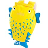 Dynamic Trunki PaddlePak Spike the Blowfish Backpack - Yellow with accompanying Foldable Drinks Bottle