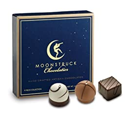 Moonstruck Chocolate 9-Piece Chocolate Truffle Collection