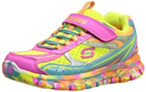 Skechers Kids 80882L Synergy Kickety Kick Sneaker,Neon Pink/Multi,1 M US Little Kid