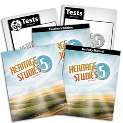 Heritage Studies 5 Subject Kit--Text and Teacher with CD, Activity Manual, Tests and Keys (Bju Press 5th compare prices)