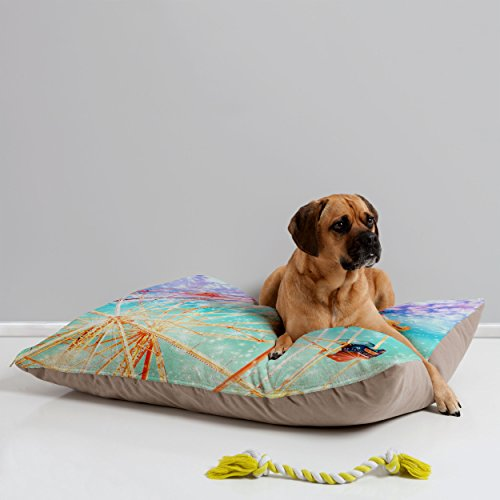 DENY Designs Lisa Argyropoulos Galaxy Wheel Pet Bed, 40 by 30-Inch