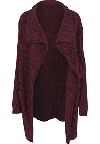 Urban Classics - Mantel Knitted Long Cape, Giubbotto Donna, Multicolore (Burgundy), Small (Taglia Produttore: Small)
