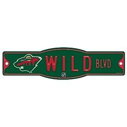 NHL Minnesota Wild Sign, 4.5 x 17-Inch