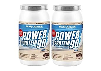 Body Attack Power Protein 90 2 x 1000g 2er Pack Dose Schoko Nut Nougat