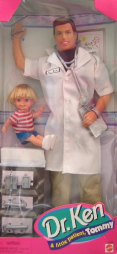 Barbie Dr. Ken & Little Patient Tommy Doll Set (1997)