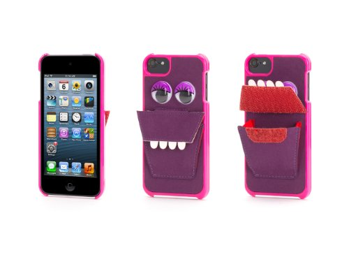 Purple Nommnomm Case W/ Earphone Storage For Ipod Touch 5Th Gen.