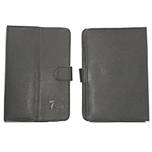 7&Seven G12 PURE LEATHER FLIP FLAP CASE COVER POUCH CARRY STAND FOR KARBONN SMART 7 BLACK