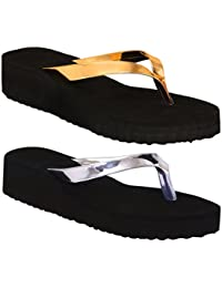 Black Rubber Rubber Wedges Synthetic Slipper