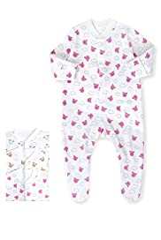 3 Pack Pure Cotton Percy Pig Sleepsuits