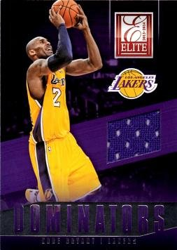 2013 - 14 Panini Elite Dominators Relics #13 Kobe Bryant Game Worn Jersey Basketball Card