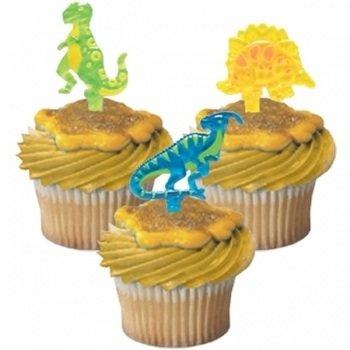 Dinosaurs Jewel Cupcake Picks - 24 ct - 1