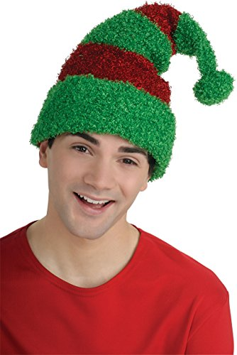 [Rubie's Adult Elf Hat, Green/Red, One Size] (Elf Hats For Adults)