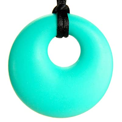"The Art of CureTM Organic Teething Necklace ""Teal"", BPA Free, All Natural, Amber Free, Silicone Teether Ring Pendant for Nursing Moms (SOLD AND SHIPS FROM USA) by The Art of Cure"