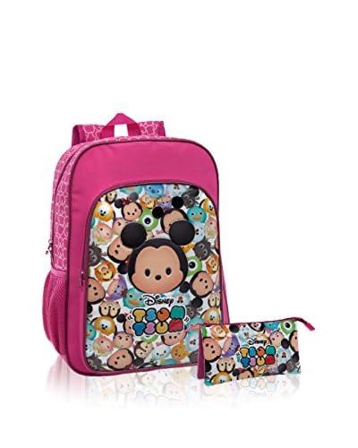 Disney Zaino + Astuccio Tsum Tsum Pink [Rosa]