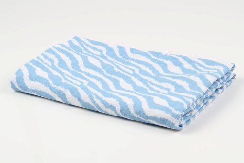 Ikat Blue Zebra 2 pc Muslin Crib Sheets