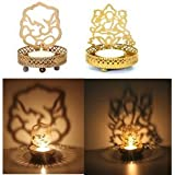 Unique Arts Set Of 2 Deity Shadow Diyas Tea Light Holders