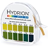 PH Test Tape Dispenser Hydrion Papers Strips made for Saliva or Urine Testing - Range is in .2 Intervals and from 5.5 to 8.0 - Check Body for Alkaline or Acid Environment - Approx. 100 Tests!