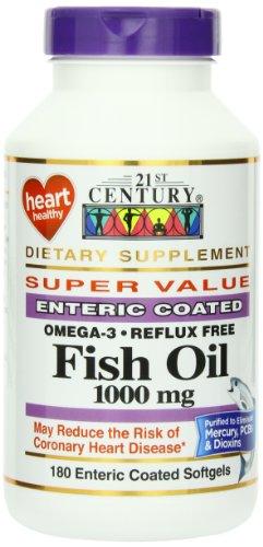 21e siècle huile de poisson 1000 mg gélules
