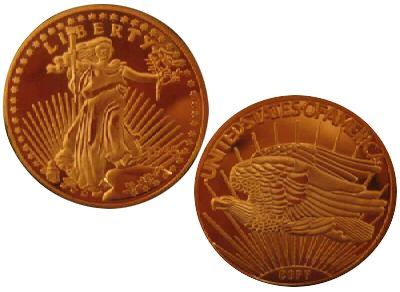 1933 $20 Saint Gaudens Gold Double Eagle Replica Coin