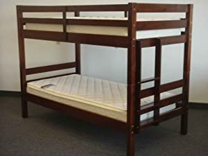 Bunk Bed - Twin over Twin Ranch Cherry from Bedz King