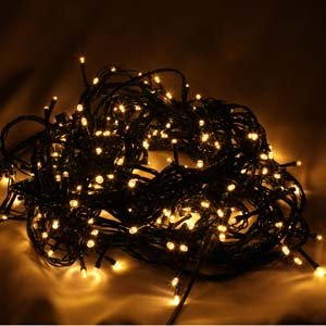 200 LED Indoor Outdoor Warm White Low Voltage Plug-in String Lights With 8 Functions -connectable up to 1200 LEDs