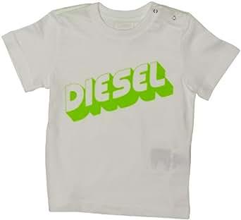 Diesel Unisex Baby Tianob T-Shirt White 3 Months