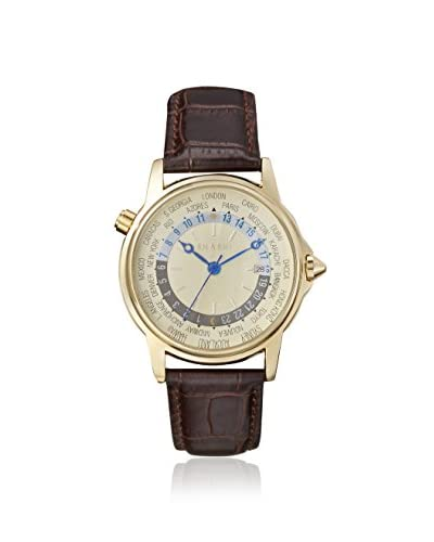 SHASHI Women's UTOP-YG Brown/Yellow Gold Stainless Steel Watch
