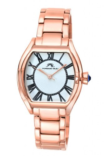 Porsamo Bleu Isabel Stainless Steel Rose Tone & White Women's Watch 182CISS