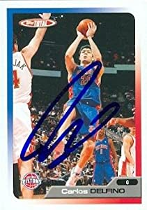 Carlos Delfino autographed Basketball Card (Detroit Pistons) 2006 Topps Total #32 by Autograph Warehouse