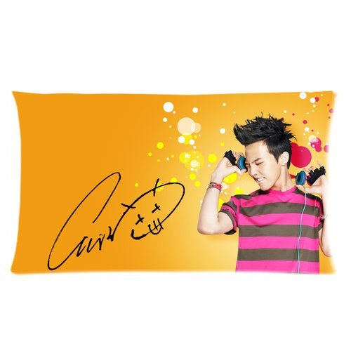 "Wholesale New Korea Hot Singer Fashion Icon G-Dragon Cool Picture Hotsales Cartoon Pillow Cases Covers Standard Size 20""X36"" One Side-1 front-1056612"